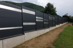 Construction barriere mur muret maconnerie Haute-Savoie